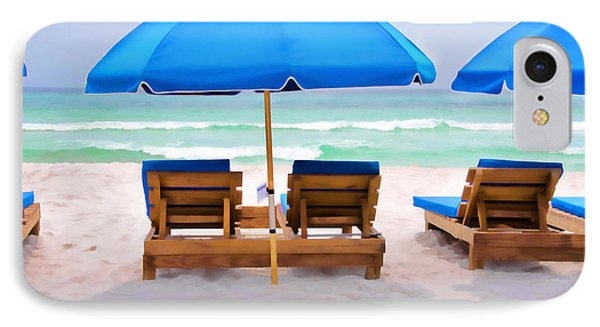Panama City Beach Digital Painting IPhone Case by Vizual Studio
