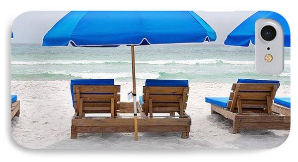 Panama City Beach Florida Empty Chairs IPhone Case by Vizual Studio