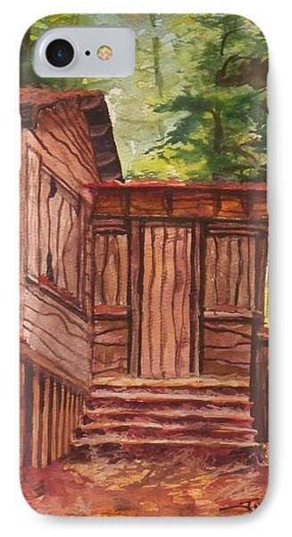 IPhone Case featuring the painting Waiting by Joy Nichols