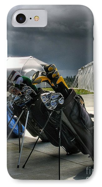 Waiting Out The Rain - Chambers Bay Golf Course IPhone Case by Chris Anderson