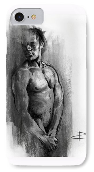 IPhone Case featuring the drawing Waiting by Paul Davenport