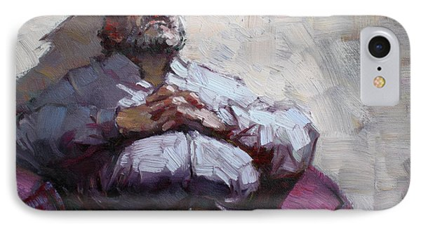 Waiting Room Nap IPhone Case by Ylli Haruni