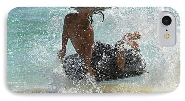 Wake Boarder Hawaii Phone Case by Bob Christopher