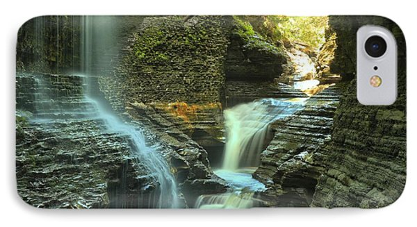 Wakins Glen Falls Under The Bridge IPhone Case by Adam Jewell