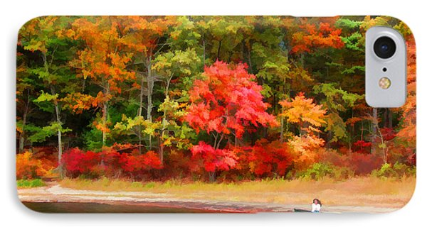 Walden Pond - Contemplation IPhone Case by Tom Christiano