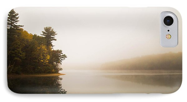 Walden Pond October Morning IPhone Case by Patrick Campagnone