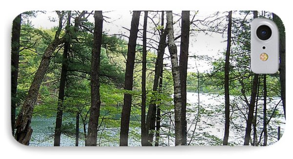 Walden Pond Through Trees IPhone Case by Catherine Gagne