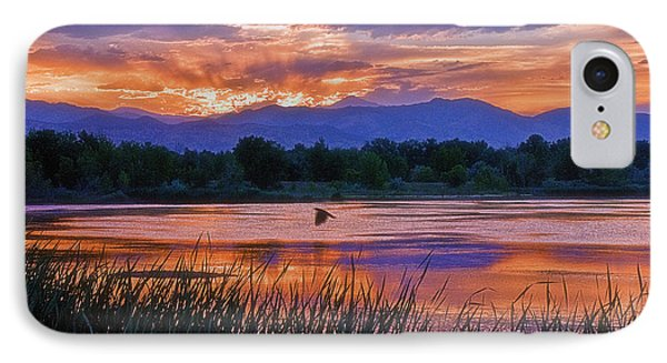 Walden Ponds Sunset IPhone Case by Brian Kerls