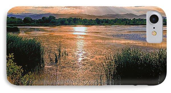 Walden Ponds Sunset II IPhone Case by Brian Kerls