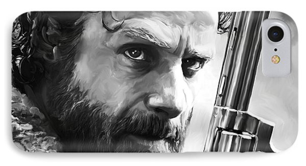 Walking Dead - Rick Grimes IPhone Case by Paul Tagliamonte