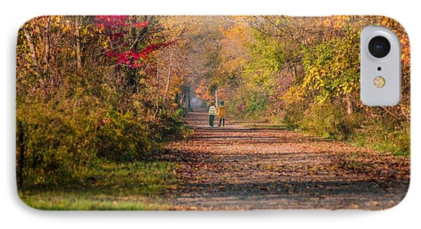 Waling Into Fall IPhone Case