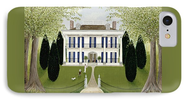 Walk In The Park IPhone Case by Mark Baring