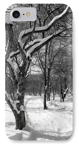 Walk In The Snow IPhone Case