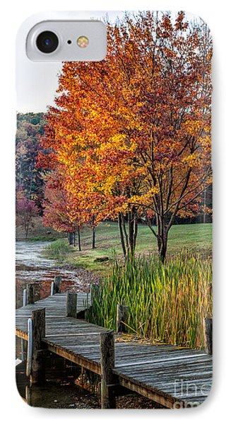 Walk Into Fall IPhone Case by Ronald Lutz