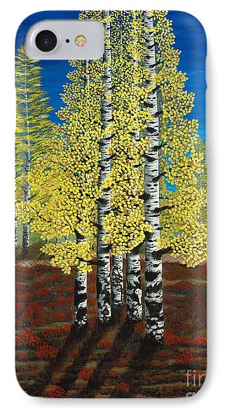 Walk Through Aspens Triptych 2 IPhone Case by Rebecca Parker