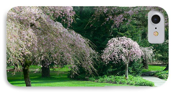 IPhone Case featuring the photograph Walk Under The Cherry Blossoms by Sabine Edrissi