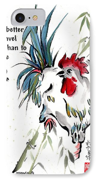 IPhone Case featuring the painting Walkabout With Buddha Quote I by Bill Searle