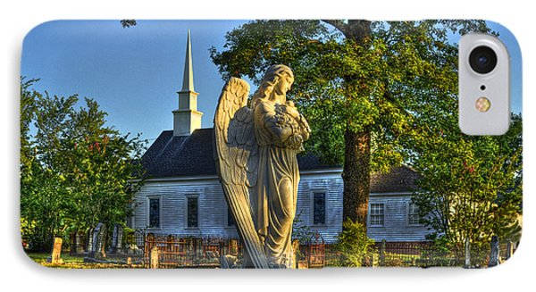 Walker Church Cemetery Angel IPhone Case by Reid Callaway