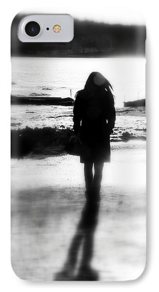 Walking Alone IPhone Case by Valentino Visentini