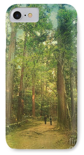 Walking Along The Kozan-ji Forest In Kyoto Japan IPhone Case by Beverly Claire Kaiya