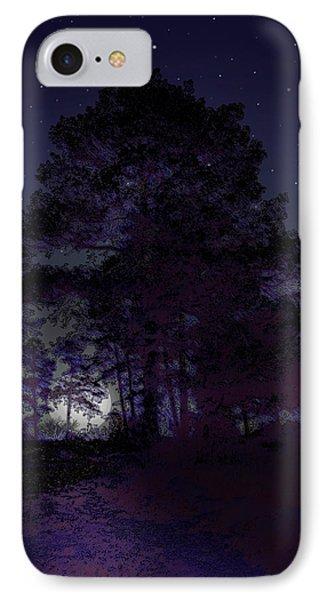 Walking At Night Phone Case by Nina Fosdick