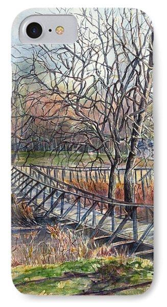 Walking Bridge Phone Case by Janet Felts