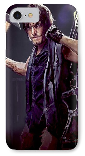 Walking Dead - Daryl Dixon IPhone Case by Paul Tagliamonte