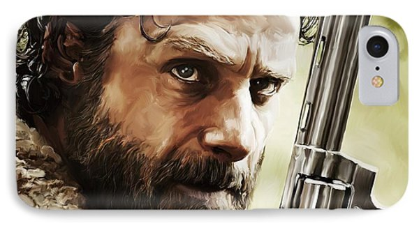 Walking Dead - Rick IPhone Case by Paul Tagliamonte