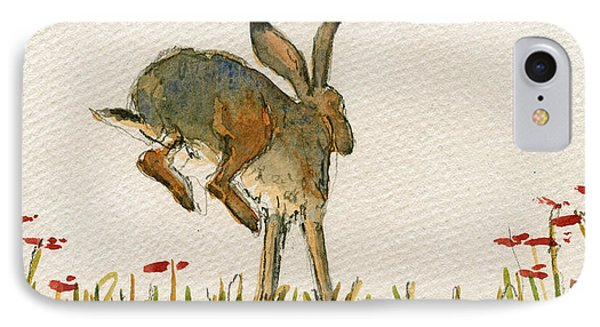 Walking Hare IPhone Case