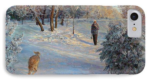 Walking In A Winter Park IPhone Case