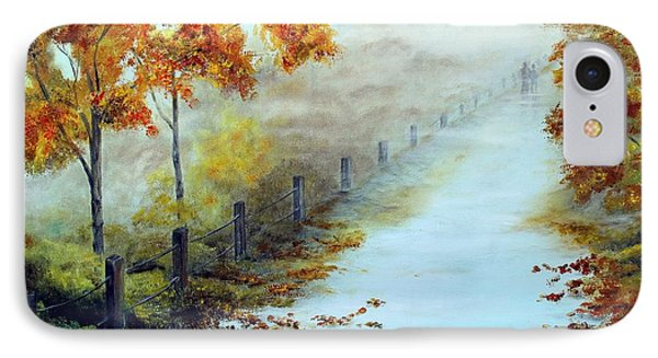Walking In The Mist IPhone Case by Anna-maria Dickinson