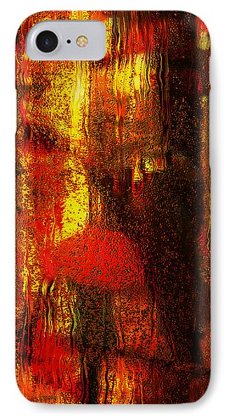 Walking In The Rain IPhone Case by Jack Zulli