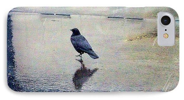 Walking In The Rain IPhone Case