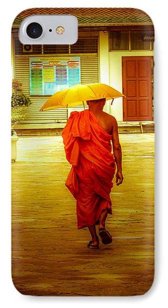 Walking In The Sun IPhone Case by Allan Rufus