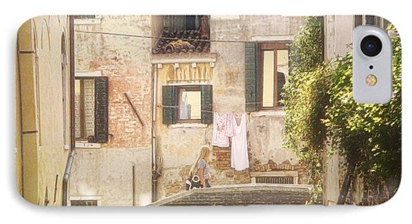 Walking In Venice IPhone Case by Nicola Nobile