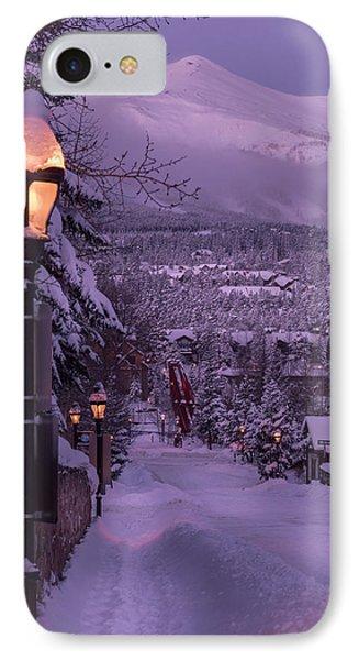 Walking In Winter IPhone Case by Michael J Bauer