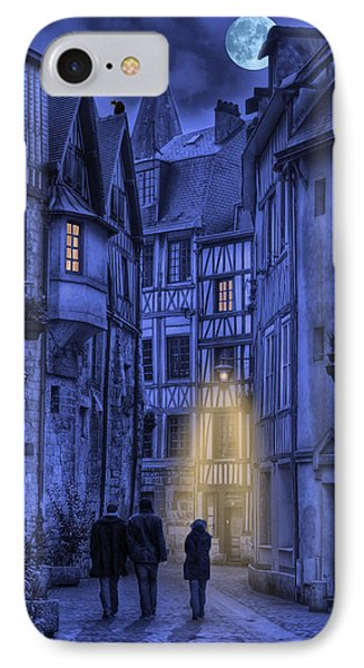 Walking Into The Past IPhone Case by Jean-Pierre Ducondi
