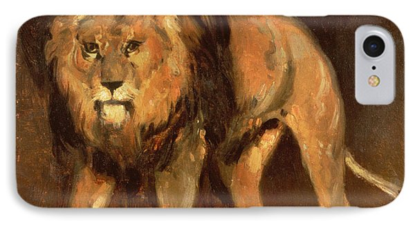 Walking Lion Phone Case by Theodore Gericault