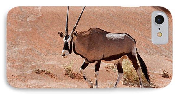Ostrich iPhone 7 Case - Walking Male Oryx (oryx Gazella by Jaynes Gallery
