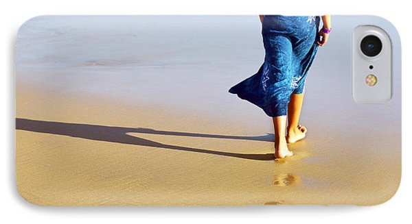 Walking On The Beach Phone Case by Carlos Caetano