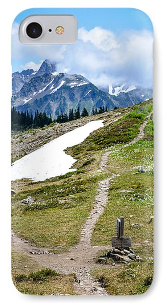 Walking On The High Divide IPhone Case by Ronda Broatch