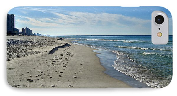 Walking The Beach Phone Case by Sandy Keeton