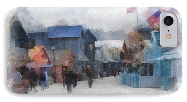Walking The Wharf IPhone Case by Barbara R MacPhail