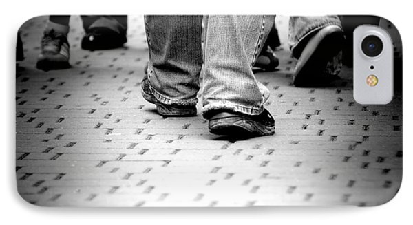 Walking Through The Street Phone Case by Michal Bednarek