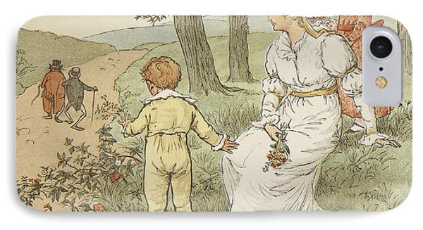 Walking To Mouseys Hall Phone Case by Randolph Caldecott