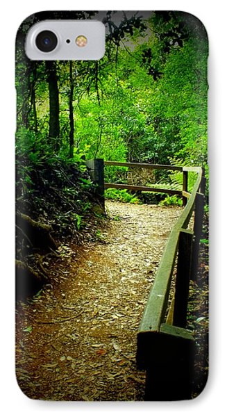 Walking Track Bunya Mountains National Park Qld Australia IPhone Case by Sandra Sengstock-Miller