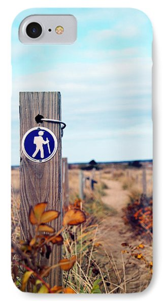 IPhone Case featuring the photograph Walking Trail By The Sea by Brooke T Ryan