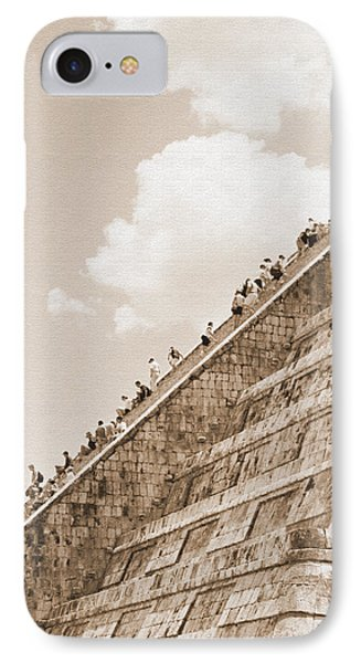 Walking Up The Pyramid IPhone Case by Kirt Tisdale