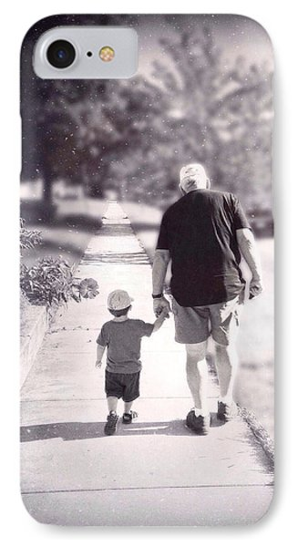 Walking With Grandpa IPhone Case
