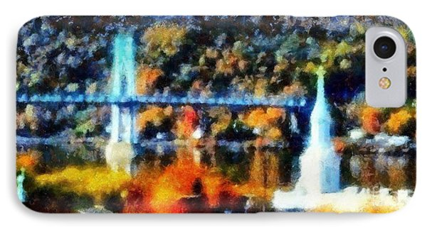 Walkway Over The Hudson Autumn Riverview IPhone Case by Janine Riley